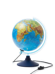 <b>Глобус</b> Земли <b>физический</b>, 25 см., с подсветкой <b>Globen</b> 7779120 ...