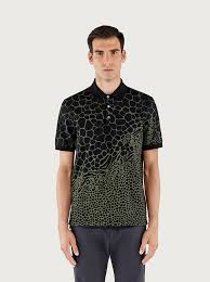 <b>Short sleeved</b> animal <b>print</b> polo - Ready to Wear - <b>Men</b> - Salvatore ...