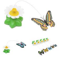 New amusing Funny <b>Pet Cat Kitten Toys</b> Electric Rotating Butterfly ...