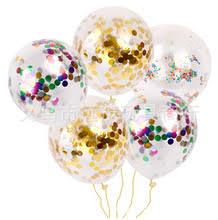 12-дюймовый прозрачные блесток <b>воздушный шар</b>, золото ...
