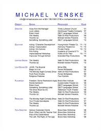A Technical Theatre Resume Resume Builder