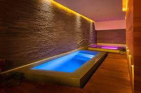 awesome indoor pool with jacuzzi pool using colorful led lighting combination amazing indoor pool lighting