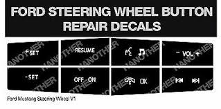 ford <b>steering wheel button</b> repair decals stickers <b>mustang</b>