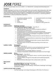 best radiology technician resume example   singlepageresume com    radiologic technologist resume examples summary highlights mri technician