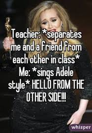 Adele Hello meme hello from the other side lmao funny | Humor ... via Relatably.com