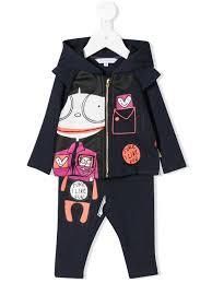 <b>Little Marc</b> Jacobs - <b>спортивный костюм</b> с принтом - Для детей ...