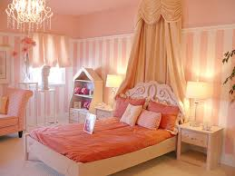 kids room cream wooden bed with peach bed sheet and brown canopy between throughout amazing amazing kids bedroom ideas calm