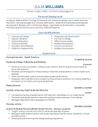 professional health sciences nursing instructor templates to resume templates health sciences nursing instructor