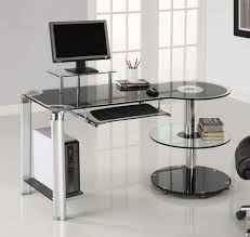 home minimalist computer desk for better productivity modern computer furniture with clear glass for computer desk amazing cool designer glass desks home