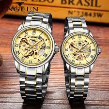 Couple <b>Watches Top</b> Brand Steel <b>Mechanical</b> Wrist <b>Watch</b> for <b>Men</b> ...