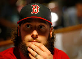 Jarrod Saltalamacchia #39 of the Boston Red Sox answers questions during 2013 World Series Media Day at Fenway Park on October 22, 2013 in Boston, ... - Jarrod%2BSaltalamacchia%2BWorld%2BSeries%2BMedia%2BDay%2BseSBuzE30O7l
