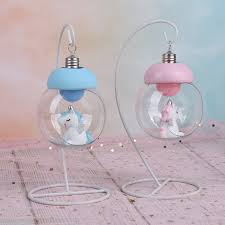 Resin <b>Unicorn</b> LED <b>Lamps Cartoon</b> Animal Horse Bedside Night ...