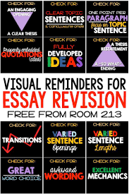 best images about english classes anchor charts essay revision reminders
