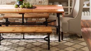 pipe frame table and bench black steel pipe furniture