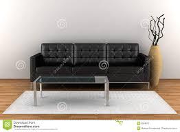 interior with black leather sofa black leather sofa