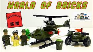 Военный Brick Combat Zones- <b>Мотоцикл</b> с коляской и Вертолет ...