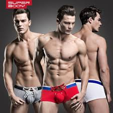 <b>New Superbody</b> laced cotton boxer slim <b>men's</b> underwear | Shopee ...