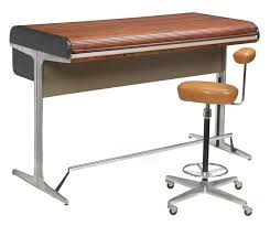 george nelson and robert propst action office roll top desk and perch stool by herman miller standup height architects desk with walnut roll top over action office desk george