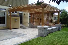 pergola designs build concrete patio