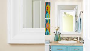 framing a large bathroom mirror