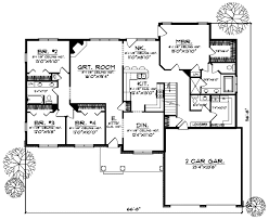 Ranch Style House Plans   Plan   Main Floor Plan