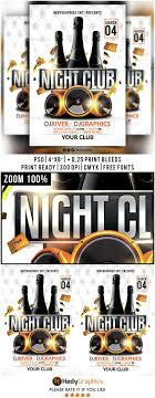 night club flyer template by hedygraphics graphicriver night club flyer template clubs parties events