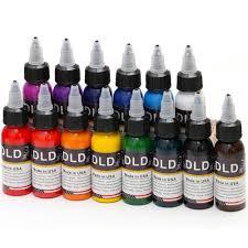 <b>16 Colors Professional</b> Permanent Tattoo Ink MakeUp Paint Tattoo ...