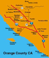 Image result for map of orange county ca