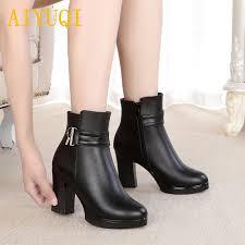 <b>AIYUQI</b> Women'S Winter Boots 2018 New <b>Genuine Leather</b> Women ...