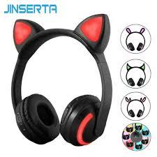 JINSERTA Cat/<b>Rabbit</b>/Deer/Devil Ear Headphones <b>7 Color</b> LED ...