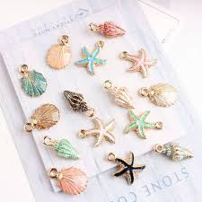 Online Shop <b>10pcs</b>/lot Nautical Ocea Enamel Sea Starfish Shell ...