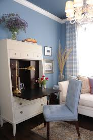 modern secretary desk home office traditional with blue blue and brown image by brian dittmar design inc blue brown home office