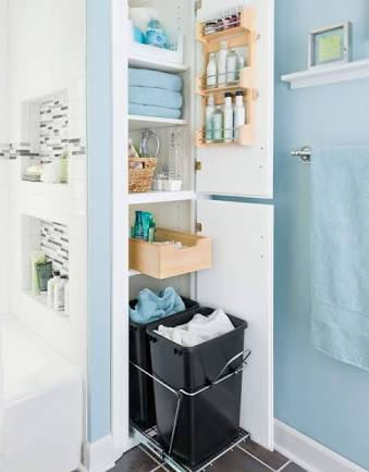 My Favorite Bathroom Interiors And Ideas - Hidden Cabinets