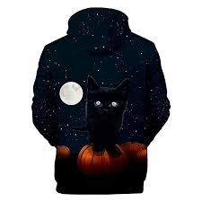Y56 Halloween Fashion Funny Hooides Pullover Tops Mens ...