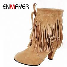 <b>ENMAYER</b> Ankle Boots U.S. Large size 4 14 Free Shipping Winter ...