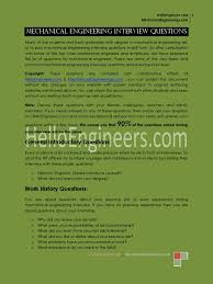 mechanical engineering interview questions pdf interview engines