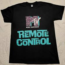 <b>new reprint VINTAGE</b> MTV Remote Control <b>1980s</b> shirt GILDAN t ...
