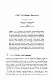 cbr strengths and weaknesses springer inside