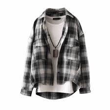 <b>2019 summer new</b> plaid <b>women</b> blouse and shirts loose student ...