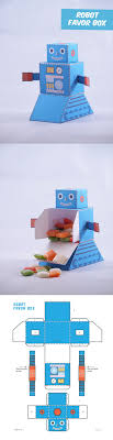 best ideas about create your own robot science create your own old school robot favor box