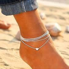 Buy <b>Explosion models</b> beach love multi-layer <b>anklet</b> female ...