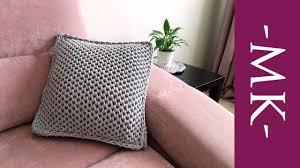 Вязаная <b>подушка</b> спицами. Как связать чехол/<b>наволочку</b> для ...