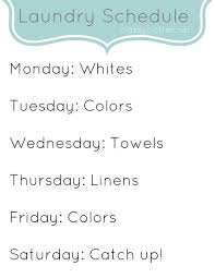 Weekly Cleaning Schedule   Wöchentlicher Putzplan  Putzplan und    Weekly Cleaning Schedule   Classy Clutter  Tuesdays and Fridays are either Colors or Darks