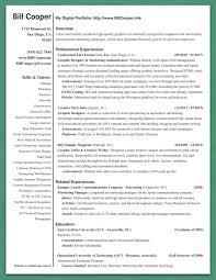 bill cooper s resume bill cooper s portfolio bill cooper s resume