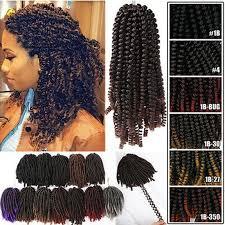 <b>Spring Twist Hair Braiding</b> 8 inch Crochet Braids Synthetic Hair ...