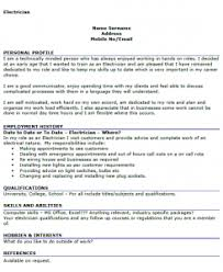 electrician cv example   icover org uk