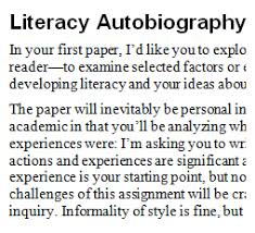 literacy autobiography essay  wwwgxartorg practicing  and reading  revision in tutor education courses an excerpt from the literacy autobiography