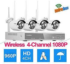 <b>Floureon 4CH</b> 1080P AHD NVR <b>Wireless CCTV DVR</b> Camera ...