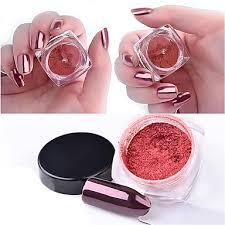 <b>2g</b>/<b>box</b> Rose Gold Magic Mirror <b>Nail</b> Glitter Powder Manicure <b>Nail</b> Art ...