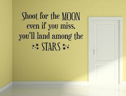 Shoot For The Moon and Stars Vinyl <b>Wall Decal</b> Quote - Motivational ...